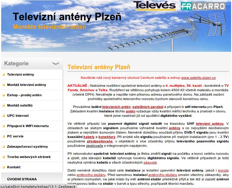 Antény Plzeň