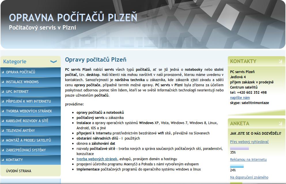 PC servis Plzeň