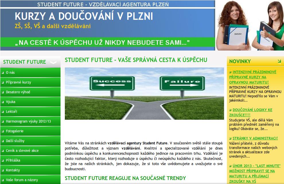 přípravné kurzy Student future